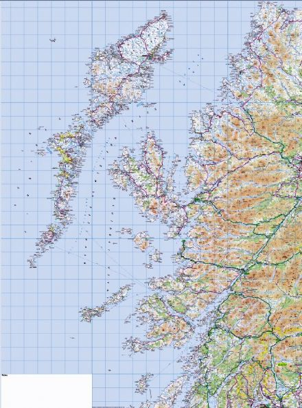 2. Western Scotland & The Western Isles- Wall Map